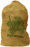 Wood Products Int'l 9908 8LB Fat Wood or Wooden Burlap Bag