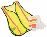 Safety Works 10123584 Safety Vest & Glove Combination Kit, Hi-Viz