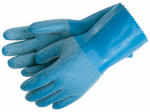 Safety Works C6852L Chemical Safety Gloves, Reusable, Blue Latex, Large
