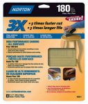 Norton Abrasives/St Gobain 02617 9x11 P180Grit Sandpaper