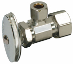 Brass Craft Service Parts OCR1BX C1 Angle Stop Valve, Chrome, 3/8 x 3/8-In.