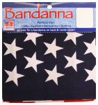 Carolina Creative Products B22AME-050114 American Flag Bandanna, Polyester & Cotton, 22 x 22-In.