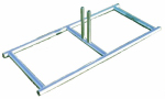 Stephens Pipe & Steel HD51000 Dog Kennel Temporary Panel Stand, Galvanized