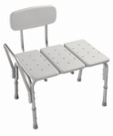 Liberty Hardware DF565 Bathtub Transfer Bench, Adjustable, Gray, 27.75 x 19.25-In.
