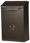 Solar Group BW110V04 Mailbox, Wall-Mount, Steel With Venetian Bronze Finish, 3.2 x 6.2 x 1-In.