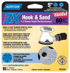 "Norton Abrasives/St Gobain 03233 2PK5""60G Hook/LoopDisc"