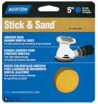 "Norton Abrasives/St Gobain 05456 4PK 5"" Disc 40G Adh Bac"
