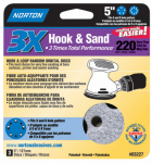 "Norton Abrasives/St Gobain 03227 3PK5""220G Hook/LoopDisc"