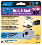 "Norton Abrasives/St Gobain 03229 3PK5""150G Hook/LoopDisc"
