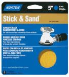 "Norton Abrasives/St Gobain 05455 5PK 5"" DIsc 80G Adh Bac"