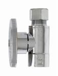 "Plumb Pak MP2055PCLF MASTER PLUMBER STRIGHT CHROME SUPPLY STOP - 3/8"" FIP X 3/8"" OD COMPRESSION 1/4 TURN  - LEAD FREE"