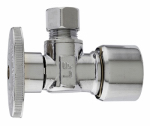 Plumb Pak MP2622PCPOLF Angle Supply Stop Push Fit Valve, Chrome, 5/8-In. O.D. Quick Lock x 3/8-In. O.D. Compression
