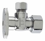 Plumb Pak MP2622PCLF Angle Supply Stop Valve, Chrome. 5/8-In. O.D. Compression x 3/8-In. O.D. Compression