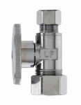 "Plumb Pak MP2068PCLF MP STRAIGHT CHROME SUPPLY STOP  - 5/8"" OD (1/2"" NOM COPPER) COMPRESSION X 3/8"" OD -COMPRESSION 1/4 TURN LEAD FREE Carded"