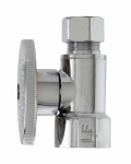 Plumb Pak MP2058PCLF Straight Supply Stop Valve, Chrome, 1/2-In. Female Iron Pipe x 3/8-In. O.D. Compression