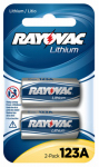 Spectrum/Rayovac RL123A-2 Lithium Battery, CR123A, 2-Pk.