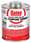 Oatey 30847 32OZ CLR or Clear or Cleaner All Purpose or Antique Pewter Solv Cement