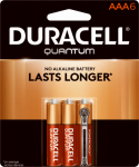 "Duracell Distributing Nc 66252 Quantum ""AAA"" Batteries, 6-Pk."