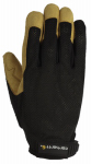 Gordini Usa A606BLKBLY XL Work Gloves, Ventilated, Black, XL