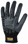 Gordini Usa A612BLK XL C-Grip Impact Work Gloves, Black, XL