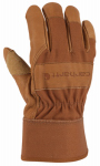 Gordini Usa A518BRN  L Work Gloves, Leather & Cotton Duck, Large
