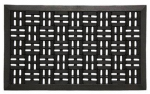 Bacova Guild 06848 Scraper Mat, Black Rubber Trellis, 18 x 30-In.