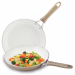 T-Fal/Wearever C944S264 Pure Living Saute Pan Set, Ceramic Finish, 8 & 10-In.