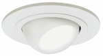 Cooper Lighting 998P Light Fixture, Adjustable Eyeball, White, 4-In.