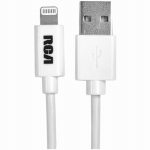Audiovox ARAH750Z Lightning Power & Sync Cable, White, 3-Ft.