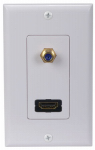 Audiovox DH202F HDMI F Connector Wall Plate
