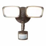 Cooper Lighting MST18920L LED Security Light, 180 Degree Motion-Activated, Twin-Head, Bronze Aluminum, 150-Watt