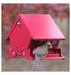 Woodlink 7458 Absolute II Squirrel Proof Hopper Bird Feeder, Mini, Holds 4-Lbs.