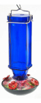 Woodlink NA35247G Bird Feeder, Hummingbird, Cobalt Blue, Square, 16-oz.