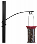 Droll Yankees SWH-8 Bird Feeder Hook, Black Steel, 8-In.