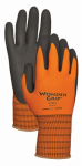 Lfs Glove WG510S Work Gloves, Double-Coated Nitrile Palm, Orange Nylon, Small