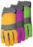 Midwest Quality Gloves 149F6-L Max Performance Work Gloves, Green & Tan, Women's L