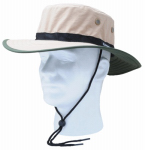 Principle Plastics 446TN Sun Hat, Tan & Green Nylon, One Size Fits All