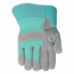 Midwest Quality Gloves 534D4 Suede Leather Palm Glove With Breathable Mesh Back, Women's Medium