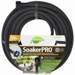 Teknor-Apex 1030-75 Soaker Hose, Black Vinyl, 75-Ft.