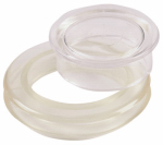 Shepherd Hdwe Prod 3030 Patio Umbrella Ring Cap Set, Clear Plastic, 2-In.