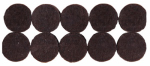 Shepherd Hdwe Prod 9861 Furniture Grip Pads, Heavy-Duty, Adhesive, Brown Felt, .75-In., 20-Pk.