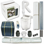 Enginuity 2051202 Rain Barrel With Diverter Kit, Gray, 100-Gals.