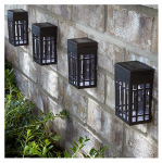 Forever Gifts SS0070-PPW0 LED Solar Wall Light Set, Bronze Plastic, 4-Pk.