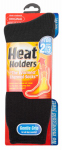 Grabber Warmers DBUSMHHORGBLACK Thermal Socks, Black, Men's Size 7-12