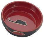 "Ethical Products 6892 5"" RED Stone Cat Dish"