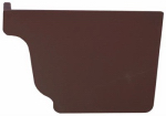 Genova Products AB101K Gutter End Cap, Right Hand, Brown, Must Order In Quant. of 5