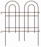 Panacea Products 87675 Garden Fence, Double Arch, Oil-Rubbed Bronze Steel, 36 x 42-In.