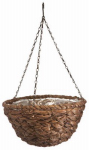 Panacea Products 88639 Hanging Flower Basket, Water Hyacinth Design, Coco Liner, 14-In.
