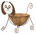 Panacea Products Corp-Import 86656 Planter, Dog, Coco Liner, Rust-Color Steel