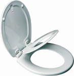 Bemis Mfg 83SLOWA Round NextStep  Child/Adult Toilet Seat, Whisper-Close , Easy-Clean & Change  Hinge, STA-TITE , White